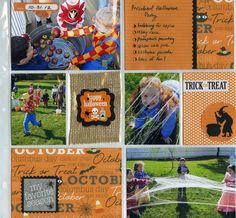 Halloween POCKET PAGES scrapbook layout made with Halloween - Harvest mambi  KIT.
