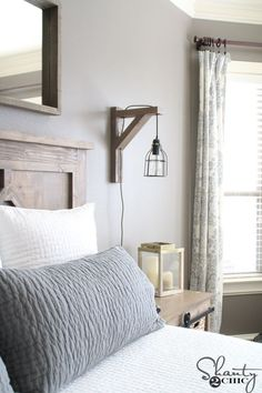 Build This DIY Rustic Corbel Light Sconce For $25! Creative Bedroom Lamp  But Perfect For