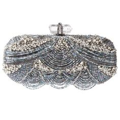 Marchesa Beaded & Embroidered Clutch.