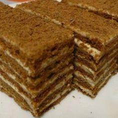 Picture of Recept - Výborná kakaová marlenka Armenian Recipes, Ukrainian Recipes, Russian Recipes, Baking Recipes, Cake Recipes, Dessert Recipes, Czech Recipes, Honey Cake, Sweet Pastries