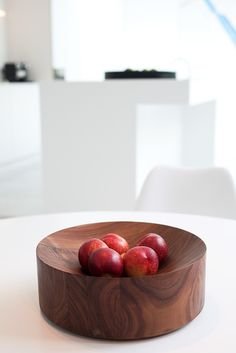 The walnut version of Michal Verheyden's 'Coupe' (When Objects Work) photographed by Tim Van de Velde.