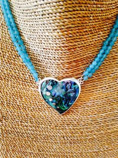 As deep as the Ocean  Paua Shell with Coral necklace by balijewels, $59.00