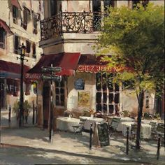 Corner Cafe by Brent Heighton