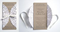 Paper Lace Wedding Invitation.