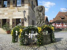 Osterbrunnen 2010 in Pretzfeld an der Kirche