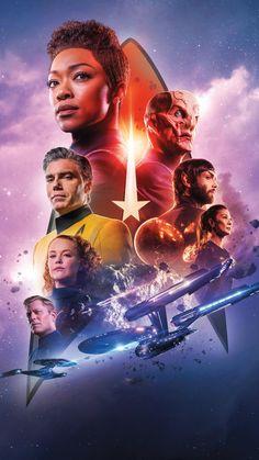 Star Trek Discovery Poster Season 2 TV Series New Art Print Star Trek Discovery Ship, Uss Discovery, Star Trek Cast, Star Trek Series, Iowa, Star Trek Wallpaper, Sonequa Martin Green, Tv Series 2017, Star Trek Characters