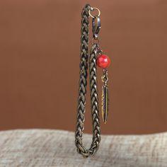 Pulseira Feather! #pulseira #acessorio #pena #feather #ourovelho #pocahontas #style #stylish #red