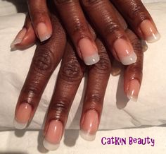 Clear gel extensions with natural, rounded tips