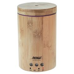 NOW Solutions Real Bamboo Ultrasonic Oil Diffuser unites #aromatherapy with #modern scientific innovation to create the perfect complement to your home or office. This attractive #diffuser is BPA-free and utilizes high-frequency ultrasonic electrical vibrations to create an ultra-fine mist. This diffusion method doesn't utilize heat, which maintains essential oil integrity and holistic properties. Use coupon code HERCHRISTMAS10 at checkout to get 10% off!