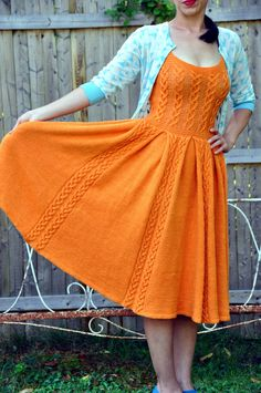 Ravelry: jettshin's 23.Marvelous Dawn. A knitted FULL CIRCLE DRESS!!