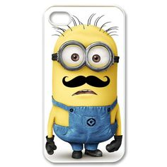 Despicable Me Minion with Cute Mustache iphone 4/4s case cover