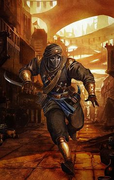 The-Thief-of-Bagdad by BriGht-liGht-NSH rogue assassin sinbad market city armor clothes clothing fashion player character npc | Create your own roleplaying game material w/ RPG Bard: www.rpgbard.com | Writing inspiration for Dungeons and Dragons DND D&D Pathfinder PFRPG Warhammer 40k Star Wars Shadowrun Call of Cthulhu Lord of the Rings LoTR + d20 fantasy science fiction scifi horror design | Not Trusty Sword art: click artwork for source: