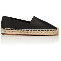 Balenciaga Square-Toe Leather Espadrilles   Barneys New York (€455) ❤ liked on Polyvore featuring shoes, sandals, leather espadrille sandals, leather espadrilles, square toe shoes, leather shoes and espadrilles shoes