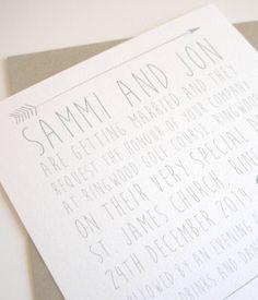 biscotti wedding invitation stationery set by lola's paperie | notonthehighstreet.com