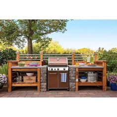 loweshomeimprovement Get the look of an expensive outdoor kitchen without the cost. Surround a  sc 1 st  Pinterest & 25+ Outdoor Kitchen Design and Ideas for Your Stunning Kitchen ...