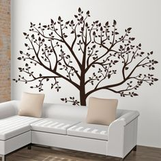 Nature Wall Decal, Tree Decal, Family Tree Wall Decal   T88