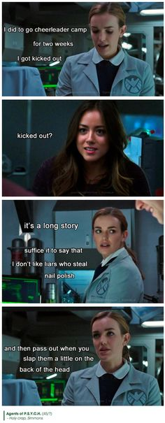 Cheerleader camp || Jemma Simmons, Skye || Agents of PSYCH || #humor #fanedit #crossover