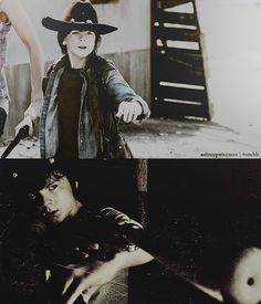 Carl Grimes - The Walking Dead Carl The Walking Dead, Friday Humor, Funny Friday, Amc Shows, Chandler Riggs, Grumpy Cat Humor, Funny Memes, Memes Humor, Funny Quotes
