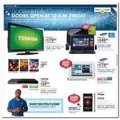 BEST BUY BLACK FRIDAY AD 2012 Best Buy has just released an online preview of their upcoming Black Friday sale for this year. Although they claim this is just a preview, this 22-page ad is already full of amazing and much anticipated deals on select brand name electronics and related products. If this is any indication of what is to come from Best Buy, then it's best to check back with us soon for their actual 2012 Black Friday ad!