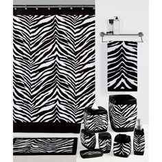 Creative Bath Products Black and White Zebra Wastebasket - 3FF61D0F3D3D40E6856CBC69EC959B4A