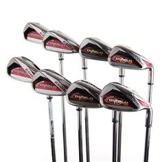 My new irons. Mens Golf Clubs, Golf Clubs For Sale, Callaway Golf, Irons, Sticks, Stuff To Buy, Steel, Check, Products