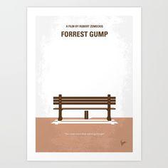 No193 My Forrest Gump minimal movie poster Art Print