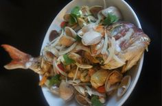 Whole Snapper with Cloudy Bay Clams and Herb Butter Sauce