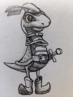 lizard adventurer #lizard #sketch #draw #art #animal by Kuuvalas