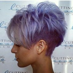 Short Grey Purple Hair Cuts for Girls Corte Y Color, Cute Hairstyles For Short Hair, Ladies Hairstyles, Blonde Hairstyles, Simple Hairstyles, Everyday Hairstyles, Edgy Pixie Hairstyles, Asian Hairstyles, Asymmetrical Hairstyles