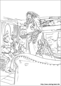 Harry Potter and the Chamber of Secrets (1998). Coloring Page.