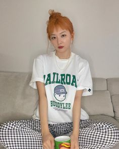 Seulgi Instagram, Irene, Thing 1, Young Kim, Red Velvet Seulgi, Kang Seulgi, South Korean Girls, Asian Girl, T Shirts For Women