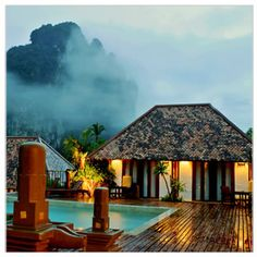 Ao Nang, Krabi Cliff Resort inThailand. Voted one of the top 50 most beautiful resort in Thailand. A lover's paradise.