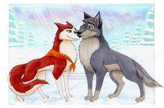 Balto + Jenna by Vani-Fox on deviantART