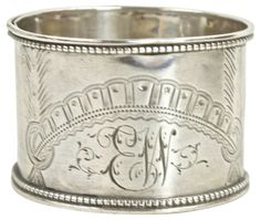 Sterling Silver Napkin Ring, 1857