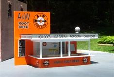 O Scale A & W Root Beer Stand kit