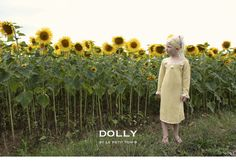 DOLLY DAISY DRESS WITH PEARLS warm yellow