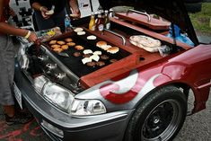 Awesome Car BBQ, We hope he didn't dismantle the car to make the BBQ Car Part Furniture, Automotive Furniture, Automotive Decor, Barbecue Original, Best Man Caves, Car Part Art, Ultimate Garage, Volkswagen, Outdoor Baths