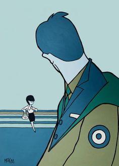 Pocketful Of Blues by Pete McKee Pete Mckee, Mod Scooter, Mod Fashion, Popular Culture, Illustrations Posters, Photo Art, Street Art, Blues, Illustration Art
