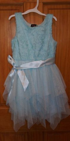bee280192aa7d EUC TODDLER Girl's LILT SPRING EASTER LIGHT BLUE TULLE DRESS - SIZE 4  #fashion #