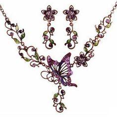 Butterfly Flowers Set