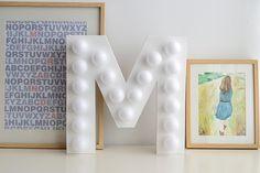 DIY: Marquee letter - Letra con bombillas