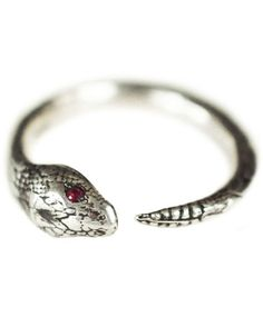 PAMELA LOVE, SERPENT W/ RUBY EYES RING, $265. #WishList