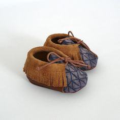 Baby+mocassins+S.16+03+months+white/+dark+blue+by+ANAAME+on+Etsy,+€39.00