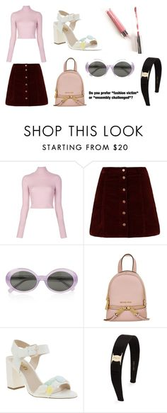 """""""Imogen and Ella's 90s concept outfit #1"""" by iceicebqby on Polyvore featuring A.L.C., Yves Saint Laurent, MICHAEL Michael Kors and Salvatore Ferragamo"""