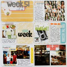 My Week 51 left page using Becky Higgins Project Life Seafoam core kit.