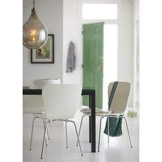 Felix White Side Chair in Dining Chairs | Crate and Barrel