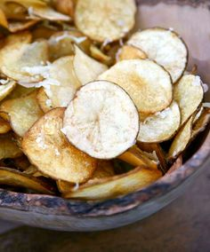 Smoked Olive Oil-Manchego Potato Chips from Leite's Culinaria