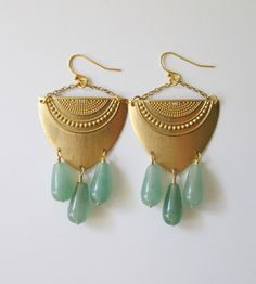 Aventurine Drop Earrings | Jewelry Earrings | C. Alexandria | Scoutmob Shoppe | Product Detail