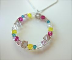 Handmade Jewelry on Etsy  Rainbow Infinity by TiffanyMorganDesigns, $60.00