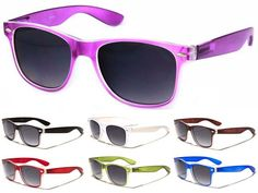 Clash / Elvis Costello/ Wayfarer-Style Cheap Sunglasses- COLOR WITH CLEAR (Various Colors!) - only $4.99